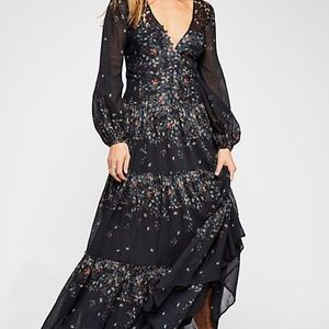NWT Free People All Eyes On You Floral Maxi Dress